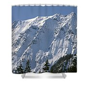 1m4443-north Face Of Big Four Mountain Shower Curtain