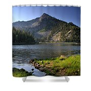 North Face Of Jughandle Mountain Shower Curtain