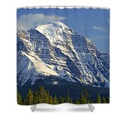 1m3549-north Face Of Mt. Temple Shower Curtain
