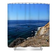 North From Palos Verdes Shower Curtain