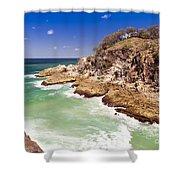 North Gorge Stradbroke Island Shower Curtain