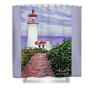North Head Light House On The Washington Coast Shower Curtain