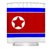 North Korea Flag Shower Curtain