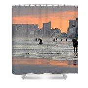 North Myrtle Beach At Sunset Shower Curtain