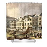 North Parade, From Bath Illustrated Shower Curtain