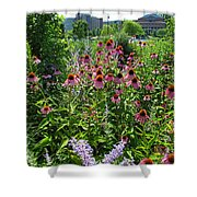 North Point Park Flowers Shower Curtain