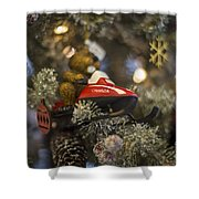 North Pole Express Shower Curtain