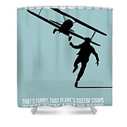 North Poster 3 Shower Curtain by Naxart Studio