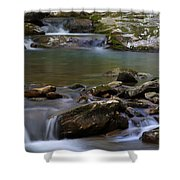 North Prong Of Flat Fork Creek Shower Curtain