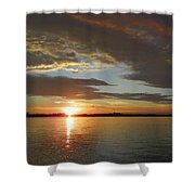 North River Sunset Shower Curtain