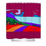 North Saanich Field And Inlet Shower Curtain