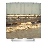 North Sea Coastal Line 1. Holland Shower Curtain