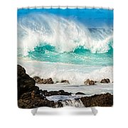 North Shore Crash Shower Curtain