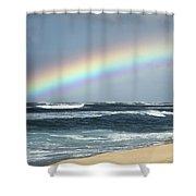 North Shore Oahu Rainbow Shower Curtain