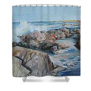 North Shore Surf Shower Curtain