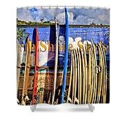 North Shore Surf Shop Shower Curtain
