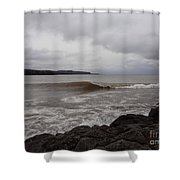 North Shore Wave Shower Curtain
