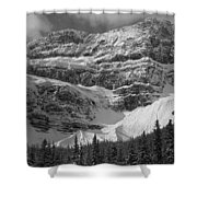 1m3536-bw-north Side Crowfoot Mountain  Shower Curtain