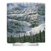 1m3536-north Side Of Crowfoot Mountain Shower Curtain