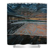 North Side Of The Ventura Pier Shower Curtain