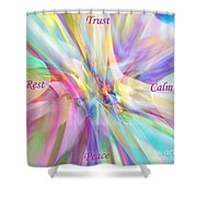 North South East West Shower Curtain