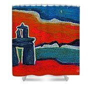 North Story Inukshuk By Jrr Shower Curtain