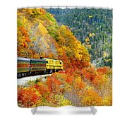 North To Crawford Notch Shower Curtain