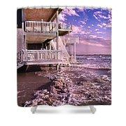 North Topsail Beach Tides That Tell Shower Curtain