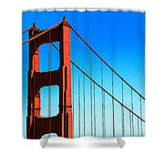 North Tower Golden Gate Shower Curtain