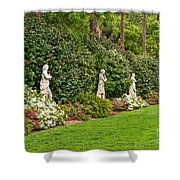 North Vista - Spring Flower Blooms At The North Vista Lawn Of The Huntington Library. Shower Curtain