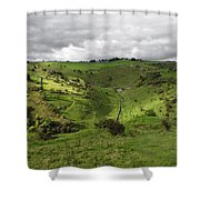 North West - Along Cressbrook Dale Shower Curtain