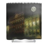 Northampton By Moonlight Shower Curtain