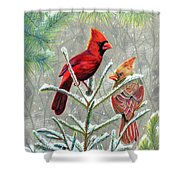 Northern Cardinals Shower Curtain