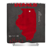 Northern Illinois University Huskies Dekalb Illinois College Town State Map Poster Series No 079 Shower Curtain