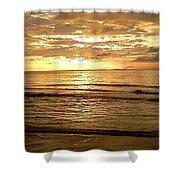 Northern Ireland Sunset Shower Curtain
