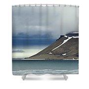 Northern Island In Svalbard Shower Curtain