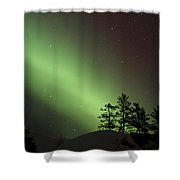 Northern Lights Disappear Shower Curtain