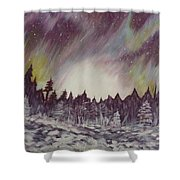 Northern Lights  Shower Curtain by Irina Astley
