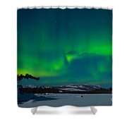 Northern Lights Or Aurora Borealis Shower Curtain