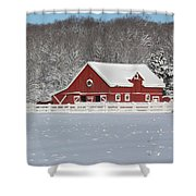Northern Michigan Country Winter Shower Curtain