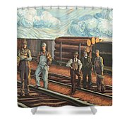 Northern Pacific Railway Shower Curtain