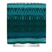 Northern Teal Weave Shower Curtain by CR Leyland