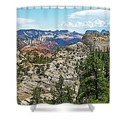 Northgate Peaks Trail From Kolob Terrace Road In Zion National Park-utah Shower Curtain