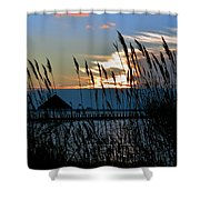 Ocean City Sunset At Northside Park Shower Curtain