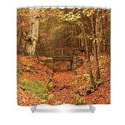 Northumberland, England  A Creek Shower Curtain