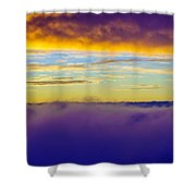 Northwest Sunrise Cloudscape Shower Curtain