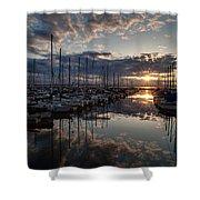 Northwest Sunset Marina Shower Curtain