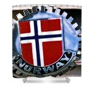 Norway Car Emblem Shower Curtain