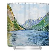 Norway Fjord Shower Curtain