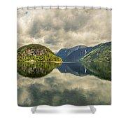 Norway Serenity In Panorama Shower Curtain